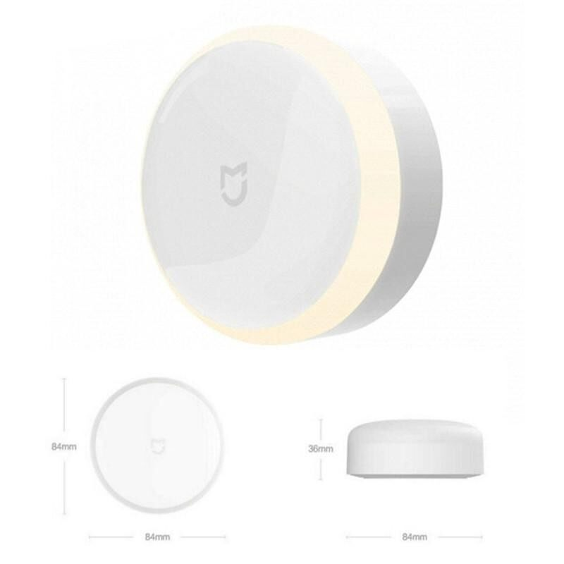 LED Dimmable Body Induction + Light Sensor Smart Night Light Wall Lamp - intl