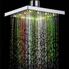 LED Shower Lights Bright Smart Auto Changing Water Bathroom Shower Head