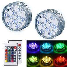LEDGLE Submersible LED Light - Operated Multi Color Changing Waterproof Decorated LED Lights with Remote Control for Aquarium, Hot Tub, Vase Base, Party, Wedding (2 Pack)