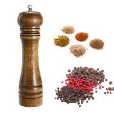 8 Inch Oak Grinder Pepper Mill Manual Pepper Grinder Multi-Purpose Sauce Bottle Kitchen Tools By E-One.