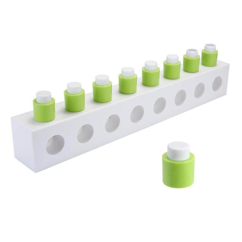 leegoal DIY Assembling Building Blocks Wall Hooks,Bathroom Self-adhesive Towel Hanger Hooks Wall Mount Key Rack Organizer,White+Green