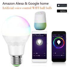 leegoal E27 Wireless WiFi Smart Bulb, Remote Control RGB Lamp Light Support Google Home And Alexa