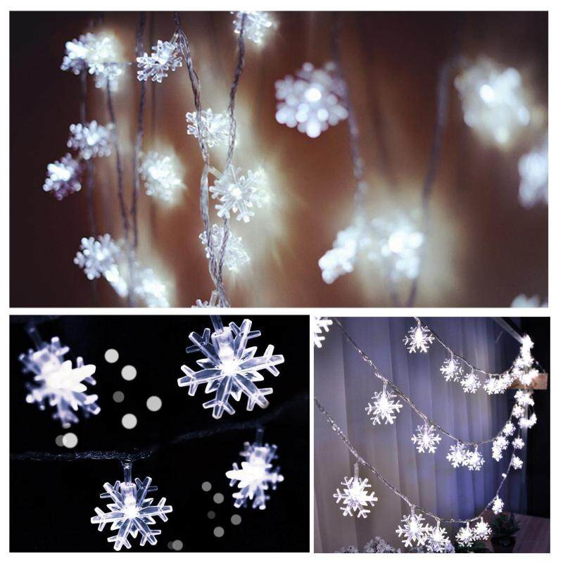 Bảng giá leegoal Holiday String Lights Outdoor And Indoor, Decorative Snowflake Lights For Seasonal Holiday Landscape Patio Garden Bedroom Christmas Party Wedding, Complete Waterproof,20LED3meter