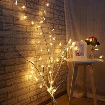 Baru leegoal Led Snowflake String Lights, Battery Powered 6 M 40 LEDs Fairy Lights For Indoor, Outdoor Christmas, Wedding, Birthday, Home Parties Decorating