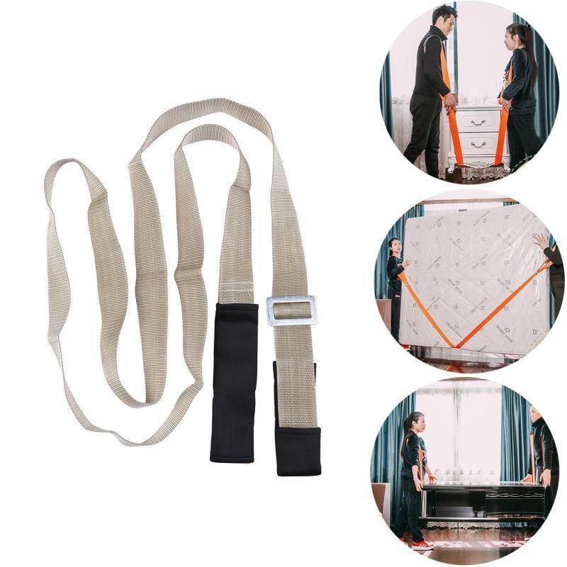 leegoal Lifting And Moving Straps(2PCS) And Extension Straps Harness(2PCS),2-Persons Furniture Carrying Belts Lifting And Moving System Shoulder Strap Moving Harness Cradles,Camel Color