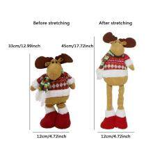 Merry Christmas Santa Claus ตุ๊กตาหนานุ่มยืดขาตุ๊กตาประดับ, คริสต์มาสของตกแต่งโต๊ะงานเลี้ยงต้นคริสต์มาสตัวแขวนตกแต่งของขวัญ By Easy Hibiscus.