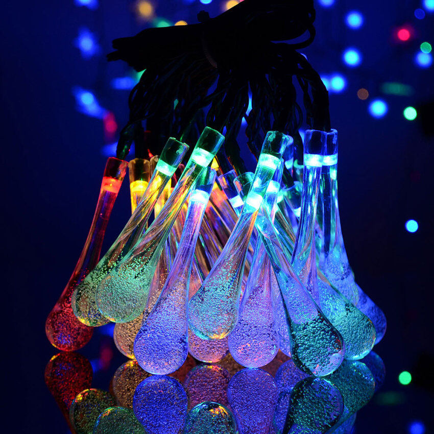 Outdoor lighting for sale outdoor lights prices brands review nicetech solar led string lights 20ft 30 led 2 working mode water drop outdoor string aloadofball Image collections