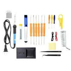 MYR 90. US Plug 25-in-1 Soldering Iron Kit, 60W Adjustable Temperature Soldering Iron, Tips, Solder Sucker ...