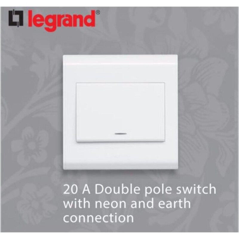 Legrand Belanko 20A Double Pole 1 way Switch(Water Heater/Aircond Switch)