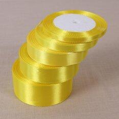 Mua Lemon Yellow25 Yards Silk Satin Ribbon Wedding Party Decor Wrapping Christmas Apparel Sewing 10mm - intl