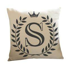Letters Pattern Cotton Linen Cushion Cover Throw Pillow Case Sofa Home Decor S By Mintonstore.