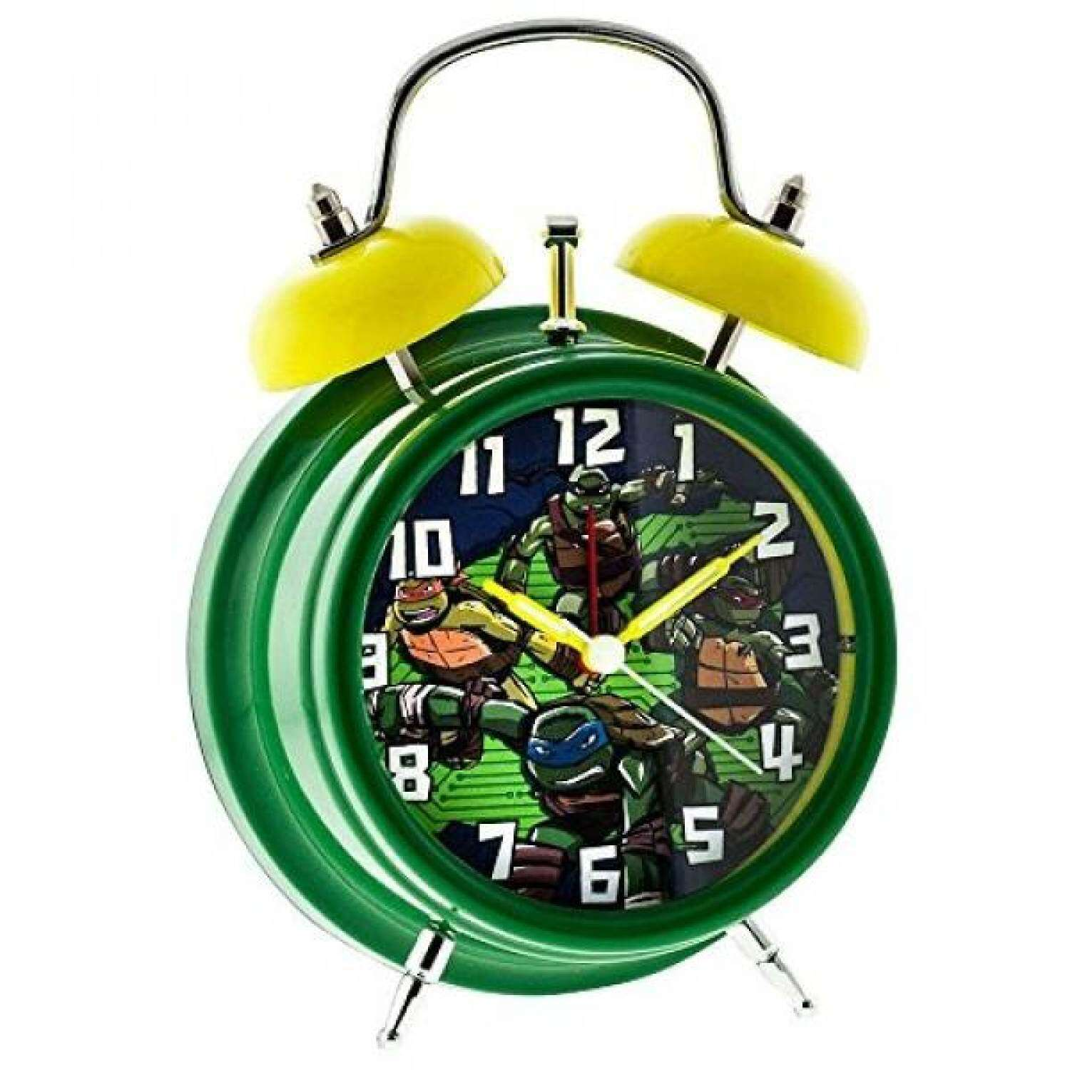 Light-Up Twin Bell Teenage Mutant Ninja Turtles Alarm ClockGreen/Yellow BAIGUAN WT253 - intl