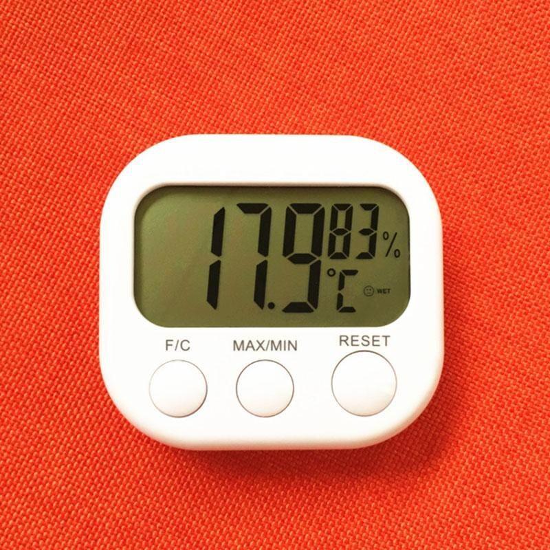 Meteran Daftar Source Burung Hidup LCD Digital Thermometer Hygrometer Suhu Kelembaban Meter Gauge dengan Jam Stasiun