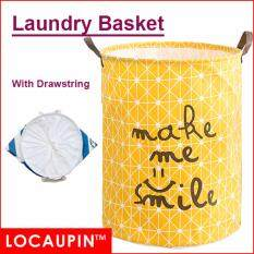 Locaupin Cotton Linen Laundry Basket Washing Storage Basket (40 X 50cm) By Locaupin Official Store.