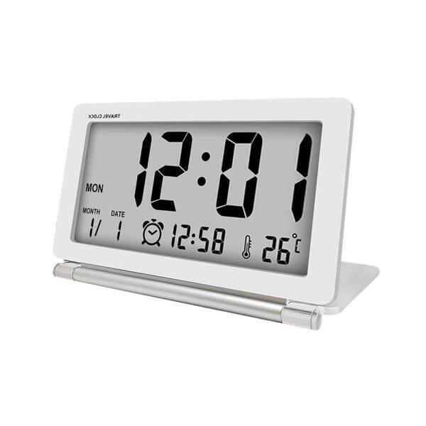 Đồng Hồ Báo Thức Kỹ Thuật Số Loskii LCD Wrinkle Với Báo Lại Ngày Nhiệt Độ + Bao Da Pin Trắng bán chạy