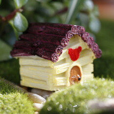 Lovely Miniature House Fairy Garden Micro Landscape Home Decoration Resin Yellow