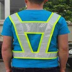 Lucky Security Reflective Vest High Visibility Waistcoats Safety Stripes Jacket