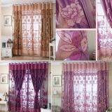 Luxurious Jacquard Curtains For Window Living Room Bedroom Door Color Dark Purple On Line