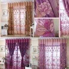 Luxurious Jacquard Curtains for Window Living Room Bedroom Door color:Dark purple