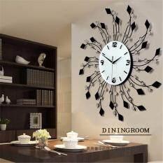 Luxurious Large 67*67cm Wall Clocks Iron Diamond Living Room Decorative Modern Style