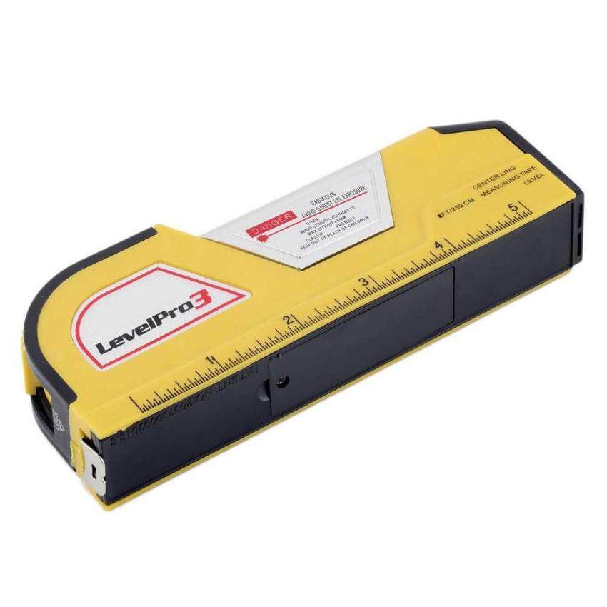 LV02 Tingkat Laser Pita Pengukur Spirit Level Horizontal Garis Vertikal Tape Rule-Intl