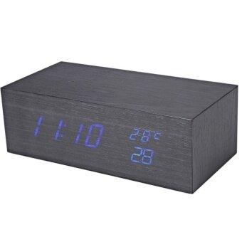 LZ Kreatif LED LED Jam Suhu Tampilan Perpetual Calendaralarm-Internasional