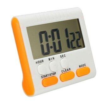 LZ Portable LCD Besar Pengatur Waktu Dapur Digital Hitungan Mundur Upclock dengan Alarm Keras (Kuning