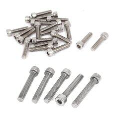 M8 x 50mm Threaded Stainless Steel Hex Socket Head Cap Screws 5 Pcs