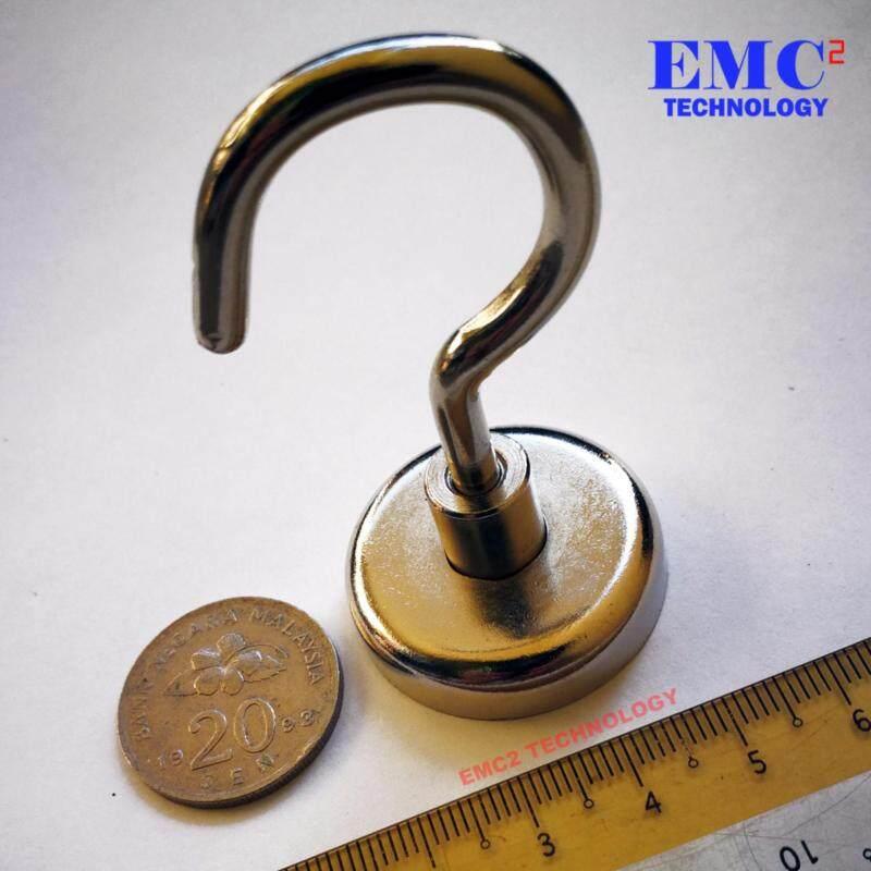 Magnetic Pothook / Neodymium Magnet Grade N40 Nickel Plated Metal Diameter 32mm Hook