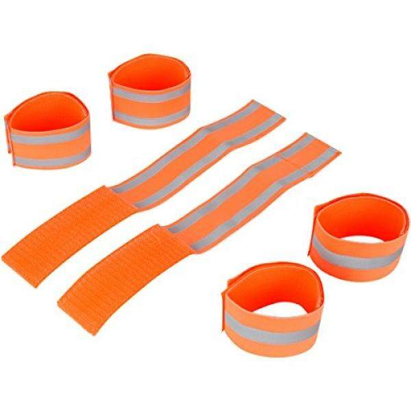 MAGNETT merchandise 3 Pairs of Adjustable Reflective Bands That Can Be Worn on Ankles, Wrists, or Arms While Running, Cycling, Walking, or Hiking
