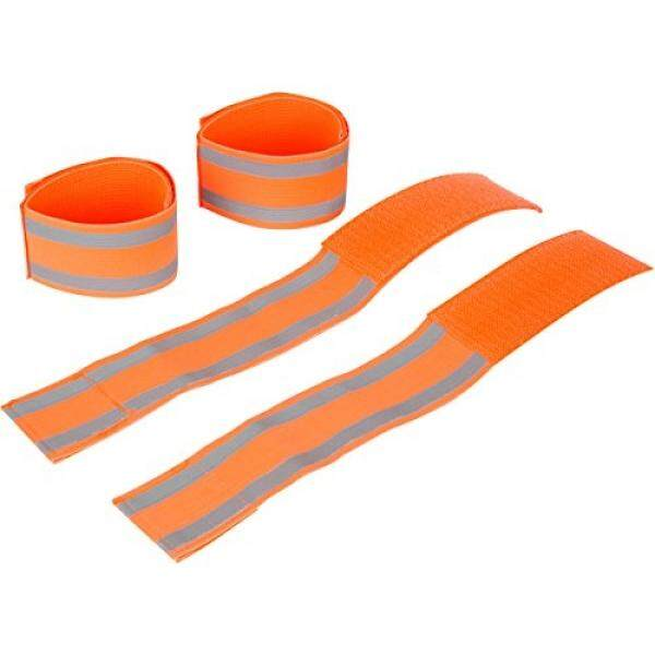 MAGNETT merchandise Reflective Bands That Can Be Worn on Ankles, Wrists, or Arms While Running, Cycling, Walking, or Hiking (2 Pairs)