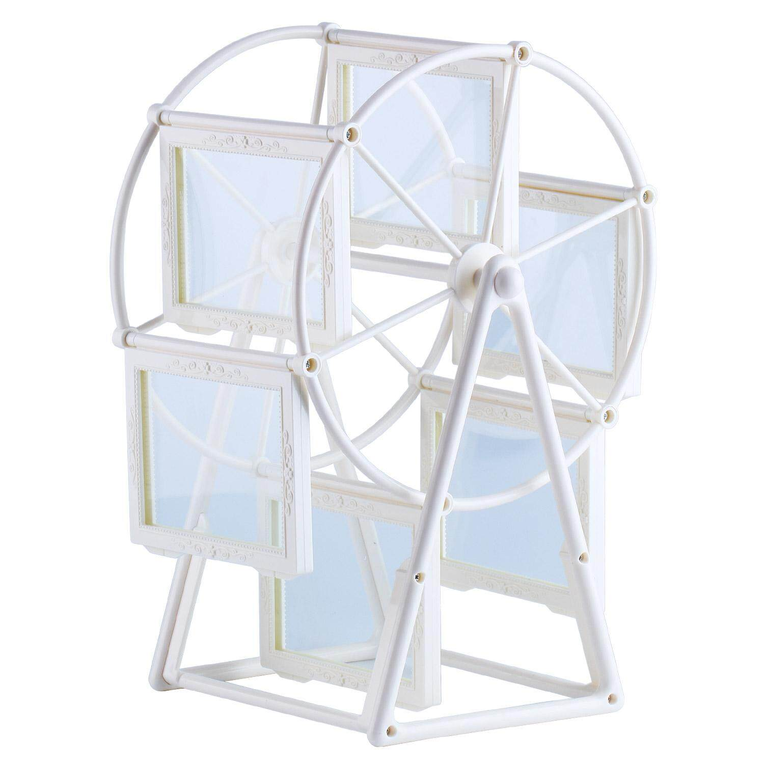 MagnificentStore Creative Rotating Ferris Wheel Home Profiles Photo Picture Frame 3.5x5 (White) - intl