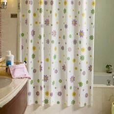 Makiyo 180x200cm Flower Waterproof Bathroom Shower Curtain With Hooks 5