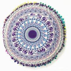 Mandala Floor Pillows Round Bohemian Meditation Throw Pillow Cushion Cover Case By Freebang.
