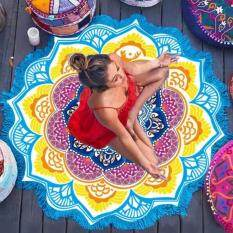 Mandala Tapestry With Tassel Lotus Printed Beach Towel Bohemian Yoga Mat( size:1 )