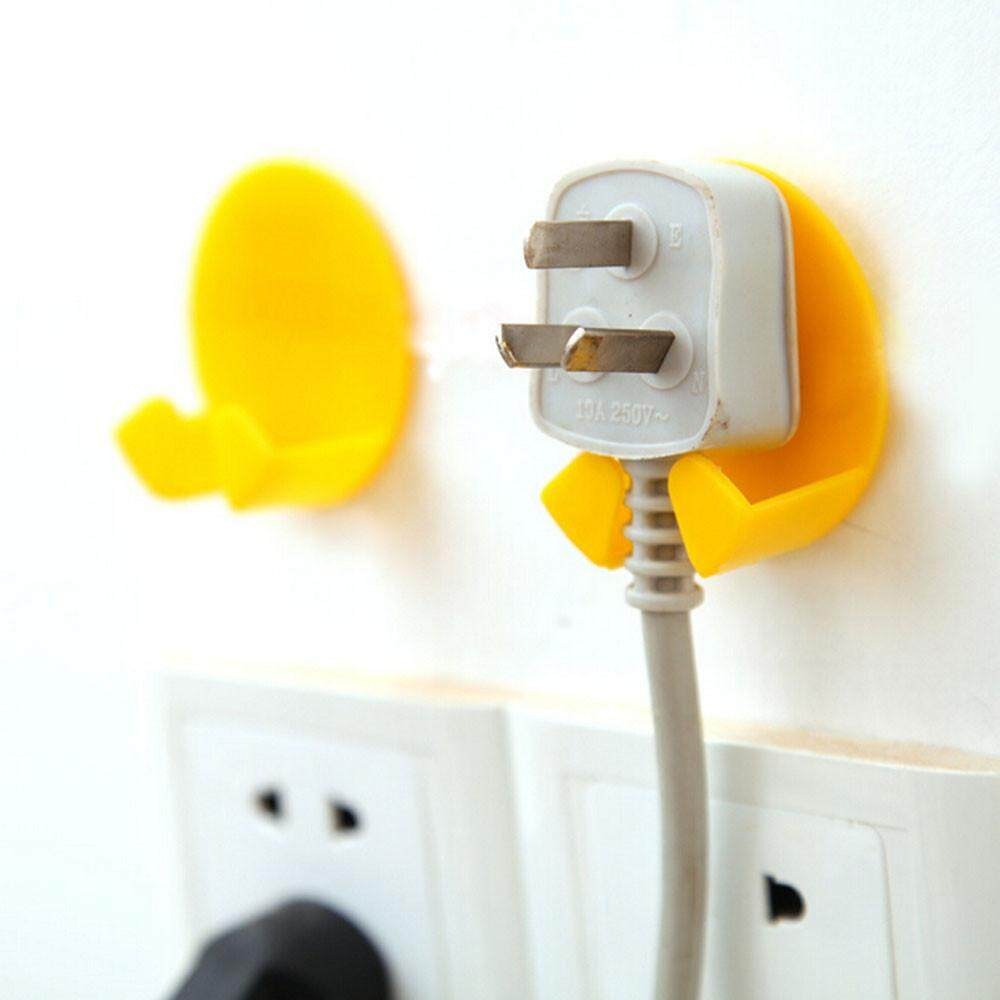 ... 4 Pcs Power Plug Socket Jack Hook Rack Holder Hanger Home Wall Decor Organizer - intl ...
