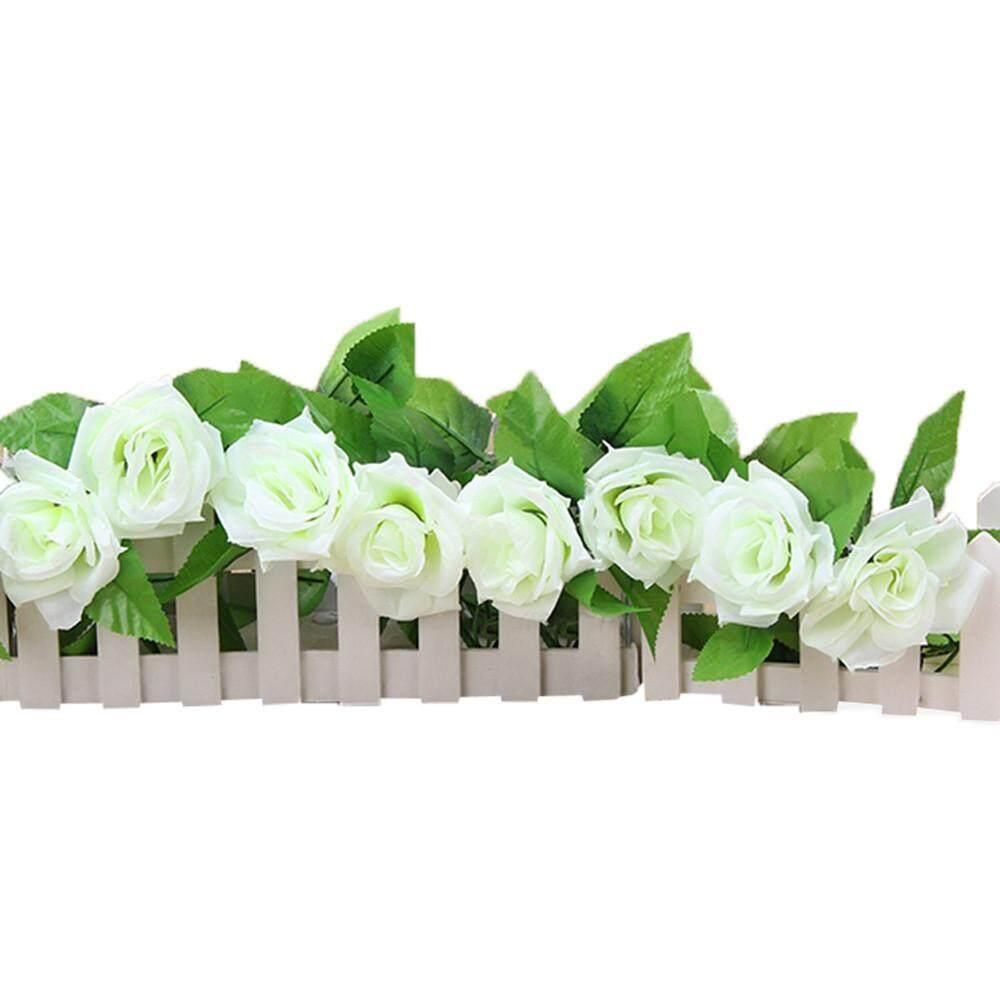 Marionshop Buatan Palsu Sutra Mawar Bunga Ivy Tanaman Merambat Gantung Garland Pernikahan Dekorasi-Internasional