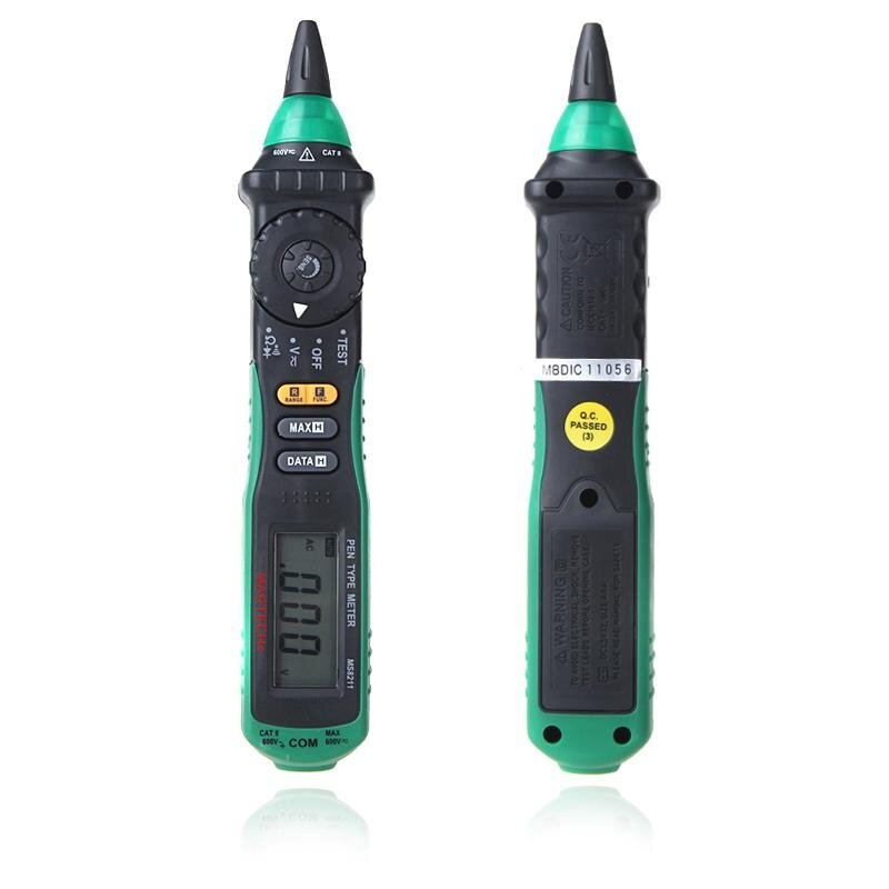 Mastech MS8211 Multimeter Digital Pen Type Non AC Detektor Tegangan Otomatis Mulai Klip Penguji Tas Jinjing-Internasional