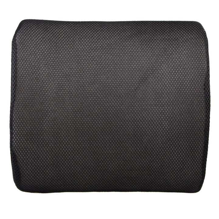 Memory Foam Lumbar Back Support Cushion Pillow Black Lazada