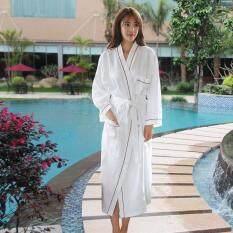 6948d1dceb Men s and Women s Cotton Bathrobe Kimono Hotel Bathrobe Spring and Summer  Waffle Sweat Evaporate Couples Bath