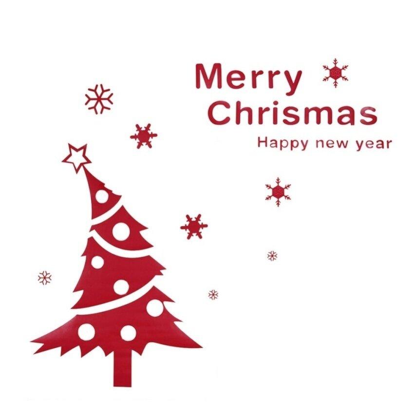 Selamat Natal Yang Indah Pohon... Ukiran Festival Kutipan Hidup Roomdiy Vinyl Dinding Stiker