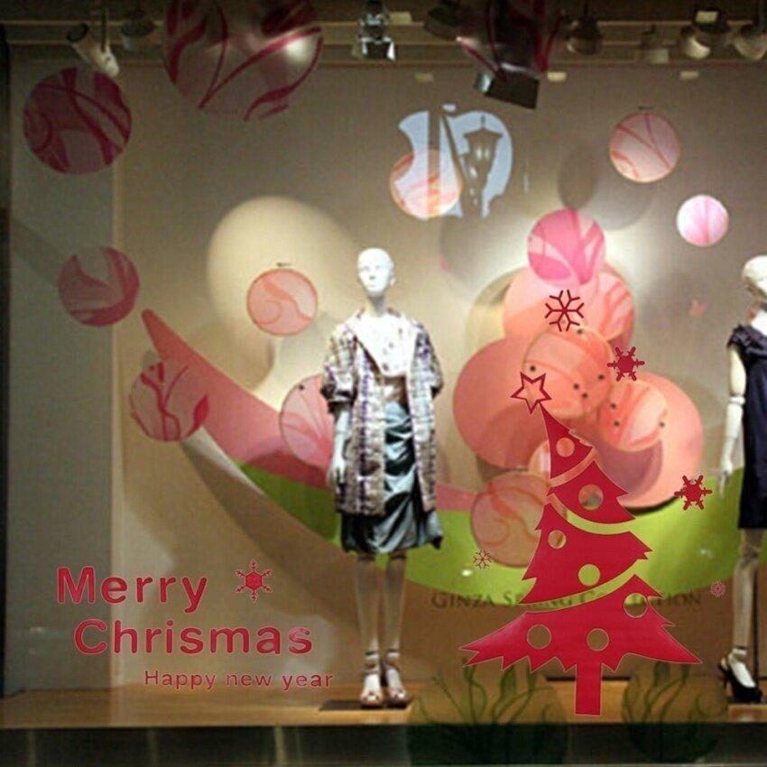 Selamat Natal Yang Indah Pohon... Ukiran Festival Kutipan Livingroomdiy Vinyl Dinding Stiker Decal