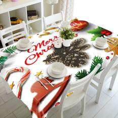 Merry Christmas Rectangular Printed Fabric Party Picnic Desk Decor Table  Cloth