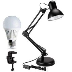 Metal Swing Arm Desk Lamp Classic Architect Clip On Table Lamp, Multi-Joint, Adjustable Arm