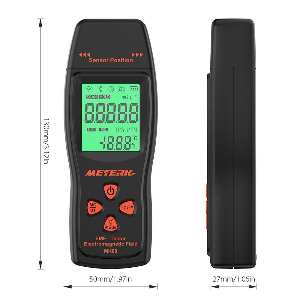 Meterk Emf Meter Handheld Mini Digital Lcd Emf Detector Electromagnetic Field Radiation Tester Dosimeter Tester Counter - Intl By Ttech.