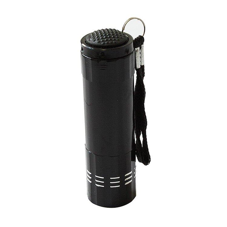 Mini Aluminum Ultra Violet 9 Led Flashlight - Black - intl