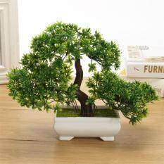 Hiqueen Mini Creative Bonsai Tree Artificial Plant Decoration Not Faded No Watering Potted For Office Home By Hiquuen.