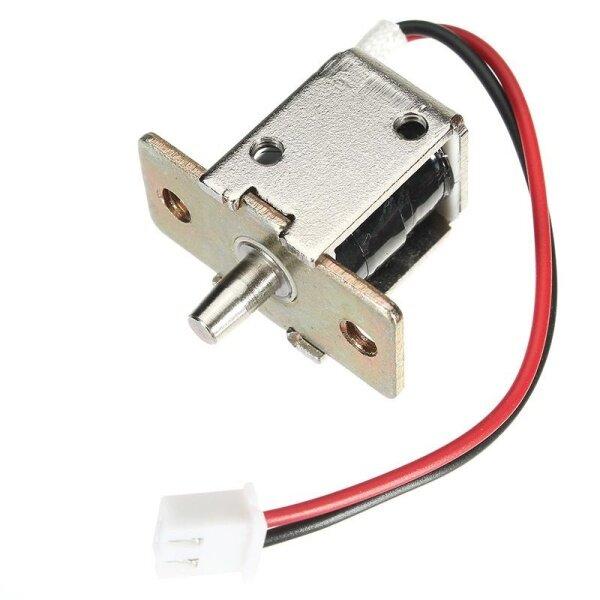 Khóa Điện Từ Bu Lông DC 12V 0,5A Mini Khóa Tủ Hình Trụ Kéo Đẩy-