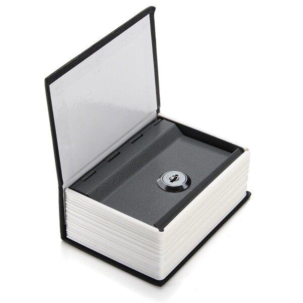 Từ Điển Bảo Mật Mini Home Sách Khóa Lưu Trữ Két An Toàn Hộp Có Khóa Tiền Mặt + 2 Phím Đen-Đen