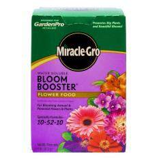 Miracle-Gro Water Soluble Bloom Booster Flower Food, 10-52-10, 1 lb (453 g) - Imported From USA